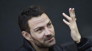Jérôme Kerviel le 8 septembre 2014 à Paris, après sa sortie de prison. (LIONEL BONAVENTURE / AFP)