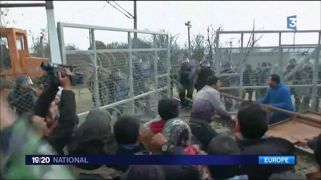Migrants de vives tensions à la frontière Gréco-macédonienne