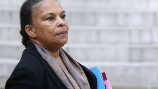 Christiane Taubira quitte l'Elysée après le conseil des ministres du 18 novembre 2015. (PATRICK KOVARIK / AFP)