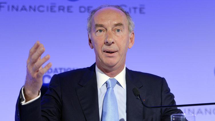 Jean-DominiqueGiuliani, le président de laFondation Robert Schuman, le 18 juillet 2014 lors d'une conférence à Paris. (MIGUEL MEDINA / AFP)