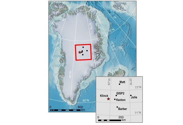 Localisation de la station météo qui a relevé le record de froid en 1191. (JOHN CAPPELEN ET AL. / QUARTERLY JOURNAL OF THE ROYAL METEOROLIGAL SOCIETY)