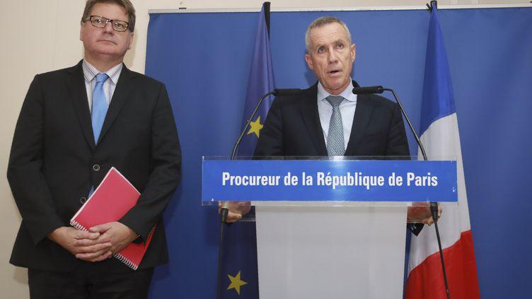Le procureur de la République de Paris, François Molins, lors d'une conférence de presse, le 6 octobre 2017. (JACQUES DEMARTHON / AFP)