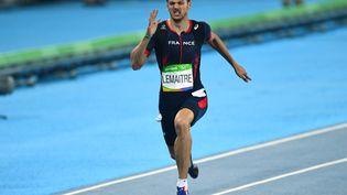 Christophe Lemaitre, le 17 août 2016 aux Jeux olympiques de Rio. (JEWEL SAMAD / AFP)