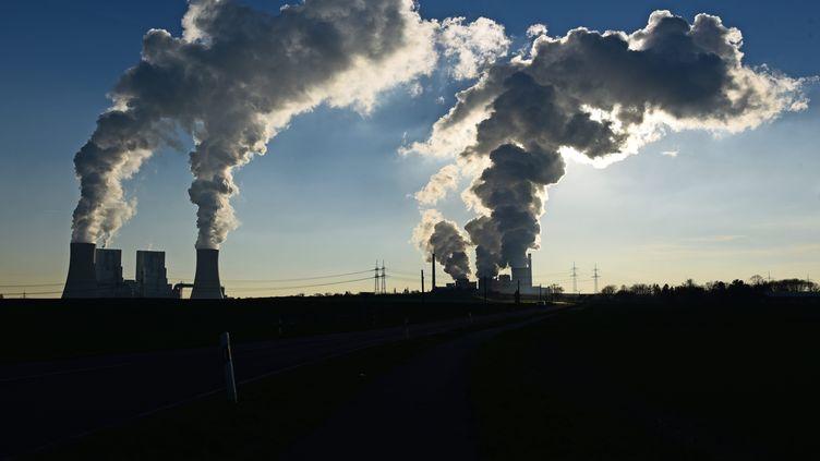 La centralethermique à charbon de Neurath, en Allemagne, le 16 février 2016. (HORST OSSINGER / DPA / AFP)