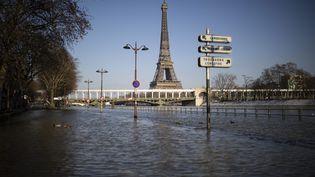 La Seine en crue à Paris, le 10 février 2021. (MAXPPP)