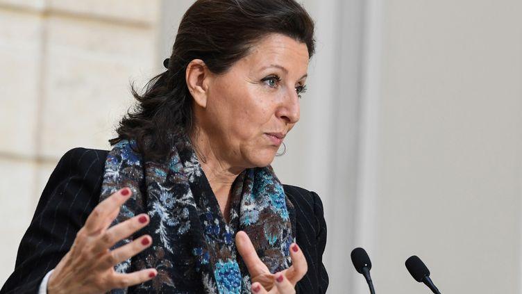 La ministre de la Santé Agnès Buzyn, le 24 janvier 2020 à l'Elysée. (ALAIN JOCARD / AFP)