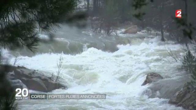 Corse : alerte orange à la pluie torrentielle et aux risques d'inondation sur l'île