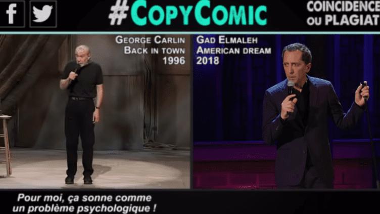 """Capture d'écran de la vidéo Youtube de CopyComic """"Gad Elmaleh, partie 1""""  (Capture écran CopyComic)"""