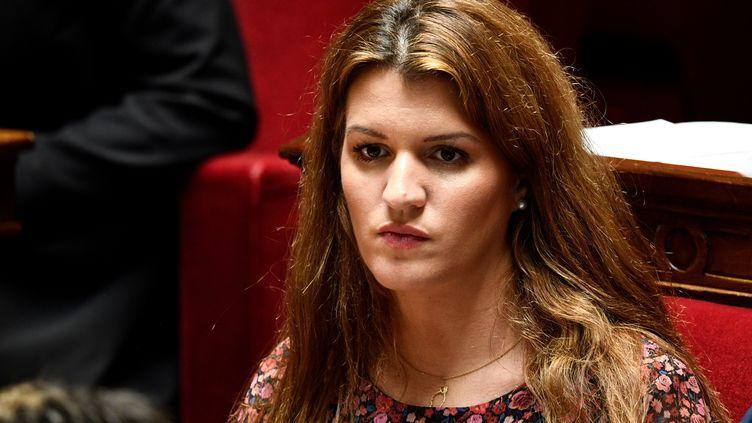 Marlène Schiappa, le 27 mars 2019 à l'Assemblée nationale à Paris (MARTIN BUREAU / AFP)