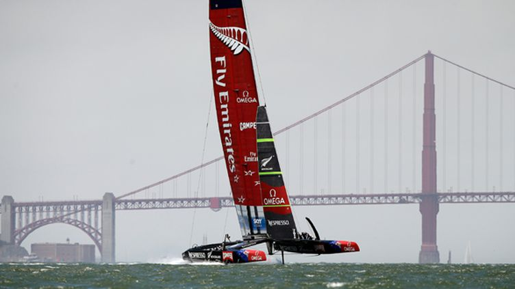 L'Emirates Team New Zealand à San Francisco (EZRA SHAW / GETTY IMAGES NORTH AMERICA)