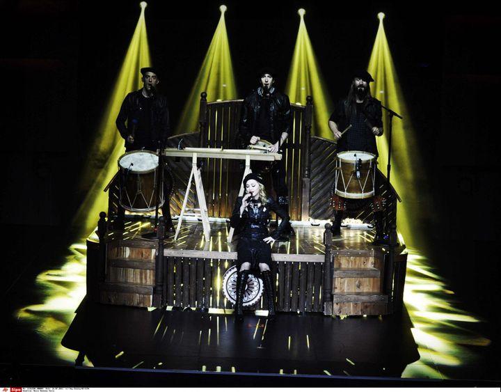 Madonna à l'Olympia, jeudi 26 juillet 2012  (Guy Oseary/sipa)