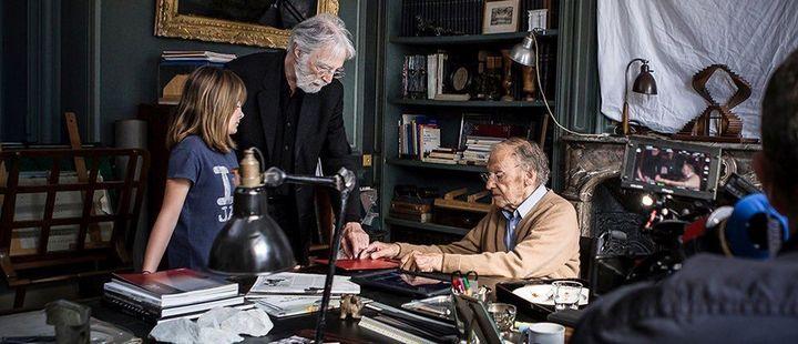 """Michael Haneke et Jean-Louis Trintignant dans """"Happy End"""" de Michael Haneke  ( Les Films du Losange)"""