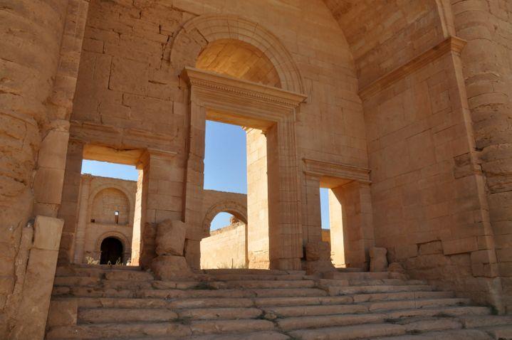 Architecture de l'époque romaine de la ville de Hatra. Photo prise en octobre 2013.  (Hubert Debbasch / AFP)