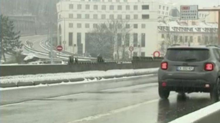 La nationale 118 a été fermée à la circulation mardi 22 janvier (CAPTURE ECRAN FRANCE 2)