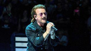 Bono le chanteur de U2 durant l'eXPERIENCE + iNNOCENCE TOUR au Prudential Center de Newark (New Jersey, Etats-Unis),le 29 juin 2018. (PAUL ZIMMERMAN / GETTY IMAGES NORTH AMERICA)