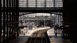 Les quais de la gare du Nord, à Paris, le 24 avril 2018. (CHRISTOPHE SIMON / AFP)