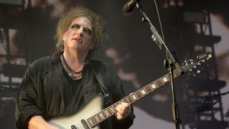 Robert Smith, leader-chanteur-guitariste, lors du concert de The Cure au 23e Hurricane Festival à Scheßel en Allemagne le 23 juin 2019. (RUDI KEUNTJE/GEISLER-FOTOPRESS / GEISLER-FOTOPRESS)