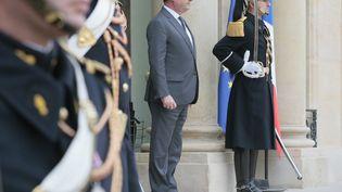 Le président François Hollande, le 22 janvier 2016 à l'Elysée à Paris. (JACQUES DEMARTHON / AFP)