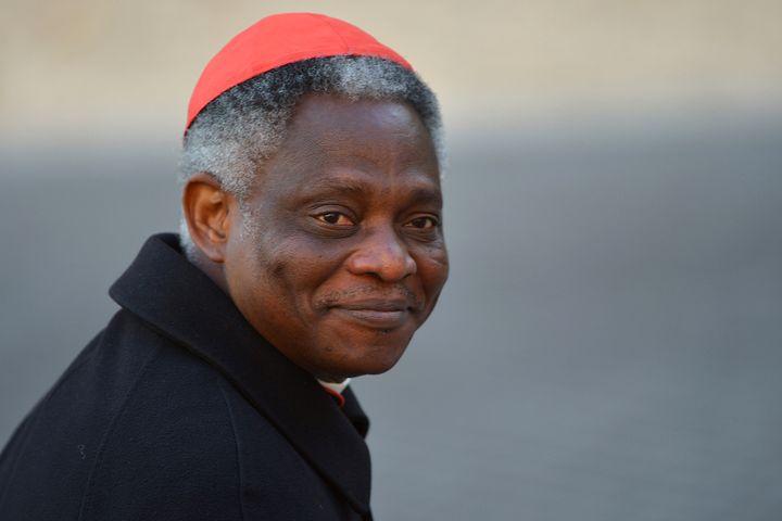 Le cardinal ghanéen Peter Turkson, au Vatican le 4 mars 2013. (VINCENZO PINTO / AFP)