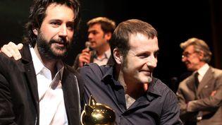 Antonin Baudry (Adel Lanza) et Christophe Blain recoivent le prix du meilleur album du festival d'Angoulême.