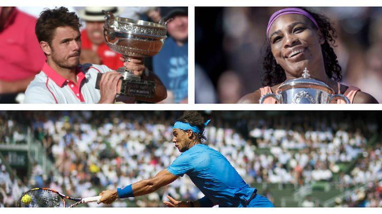 Stan Wawrinka, Serena Williams et Rafael Nadal