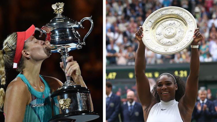 Le duel entre Angélique Kerber et Serena Williams a rythmé la saison de tennis