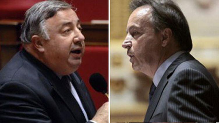L'UMP Gérard Larcher (à gauche) et le socialiste Jean-Pierre Bel. (AFP)