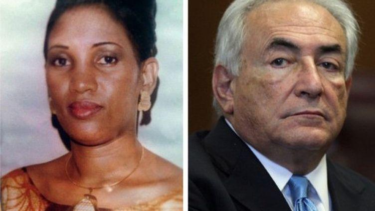Nafissatou Diallo et Dominique Strauss-Kahn (AFP PHOTO/ TODD HEISLER)