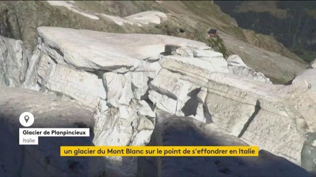 Italie : un glacier du Mont-Blanc menace de s'effondrer