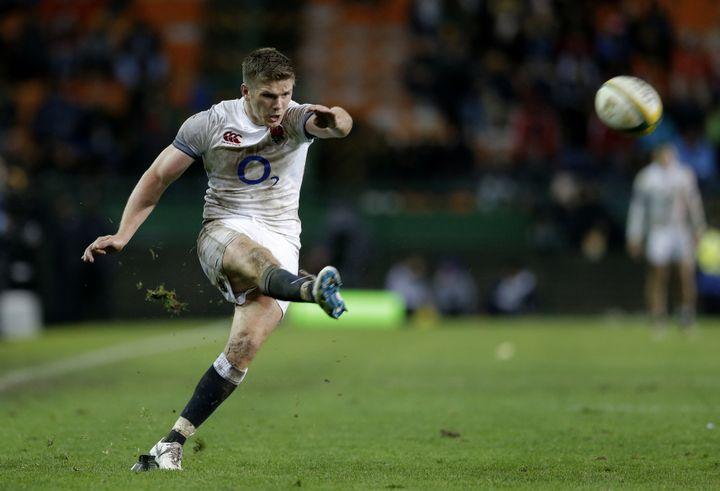 Owen Farrell a réussi un 100% contre l'Afrique du Sud (GIANLUIGI GUERCIA / AFP)