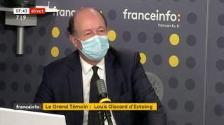 Louis Giscard d'Estaing, le fils de l'ancien président, vice-président de l'UDI, maire de Chamalières dans le Puy-de-Dôme et conseiller régional d'Auvergne-Rhône-Alpes, sur franceinfo le 9 décembre 2020. (FRANCEINFO / RADIOFRANCE)