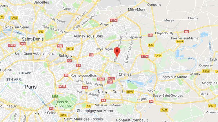 La commune de Montfermeil en Seine-Saint-Denis. (GOOGLE MAPS / FRANCETV INFO)