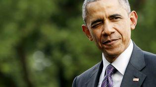 Barack Obama dans le jardin de la Maison Blanche, le 1er juillet, à Washington (Etats-Unis). (JONATHAN ERNST / REUTERS)