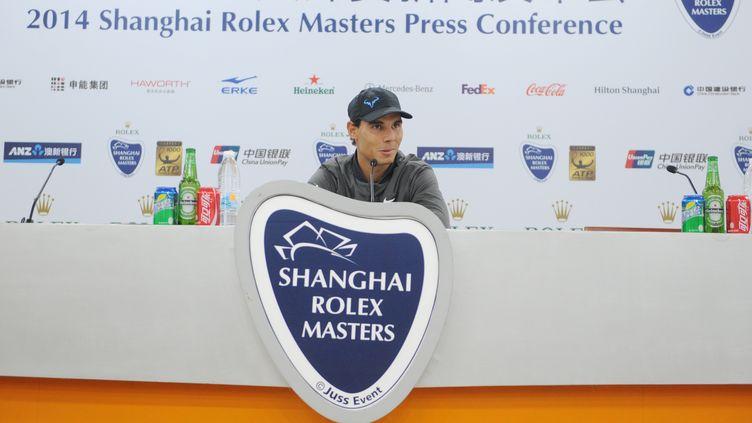 Rafael Nadal en conférence de presse à Shanghai (CHEN LONG / IMAGINECHINA)