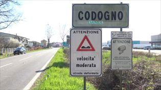 Codogno (Lombardie), le 16 mars 2020. (GILLES GALLINARO / RADIO FRANCE)