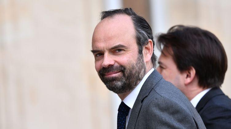 Le Premier ministre Edouard Philippe arrive à l'Elysée, le 16 avril 2018. (MUSTAFA YALCIN / ANADOLU AGENCY)