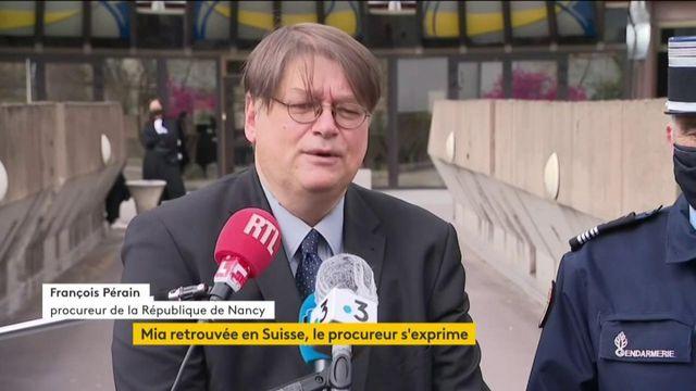 Enlèvement de Mia : le point presse du procureur de la République de Nancy François Perain