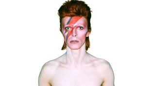 Album cover shoot for Aladdin Sane, 1973.  (Photograph by Brian Duffy © Duffy Archive)