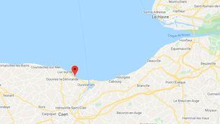 Le naufrage s'est produit au large de Ouistreham (Calavdos). (GOOGLE MAPS)