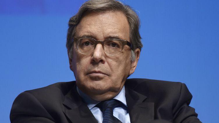 Le patron du groupe TF1, Nonce Paolini, le 12 septembre 2014, à La Rochelle. (XAVIER LEOTY / AFP)