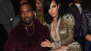 Kanye West et Kim Kardashian aux Grammys le 8 février 2015.  (Larry Busacca / Getty Images North America / AFP)