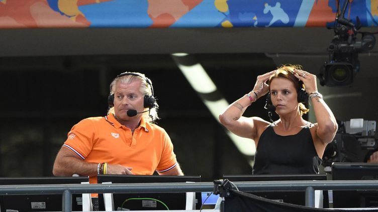 Laure Manaudou et Philippe Lucas, commentateurs pour Kazan 2015 (STEPHANE KEMPINAIRE / STEPHANE KEMPINAIRE)