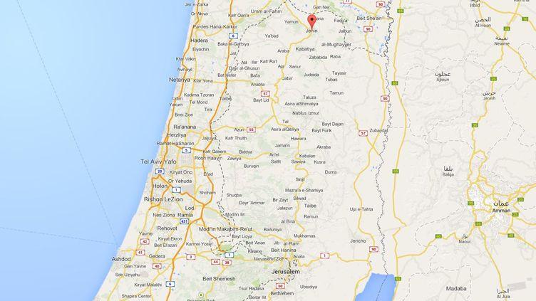 Jénine, en Cisjordanie. ( GOOGLE MAPS / FRANCETV INFO )