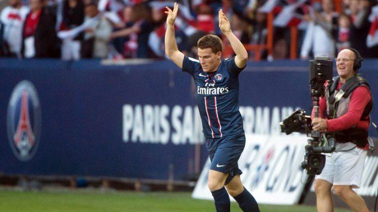 Kevin Gameiro (Lorient) a été appelé pour la première fois de sa carrière en équipe de France. (BERTRAND LANGLOIS / AFP)
