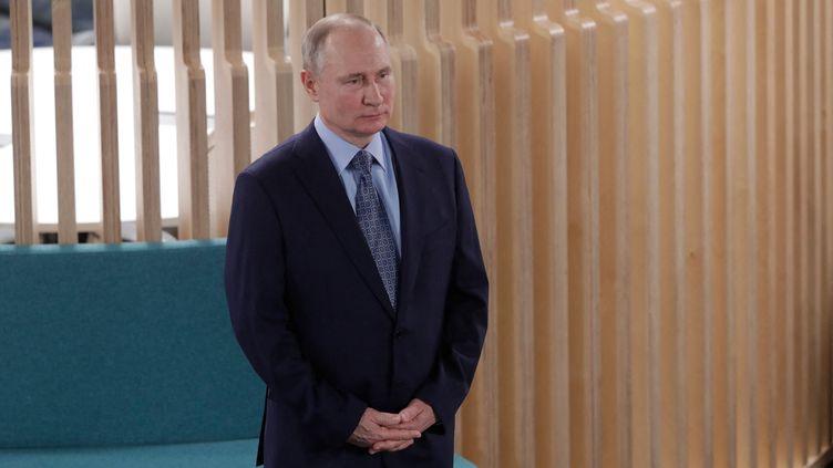 Le président russe Vladimir Poutine, le 13 avril 2021 à Moscou (Russie). (MIKHAIL METZEL / POOL / VIA AFP)