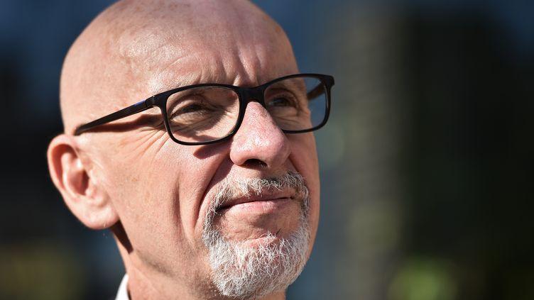 Georges Salines, président de l'association 13onze15-Fraternité et vérité, des victimes des attentats du 13 novembre, le 4 octobre 2017. (CHRISTOPHE ARCHAMBAULT / AFP)
