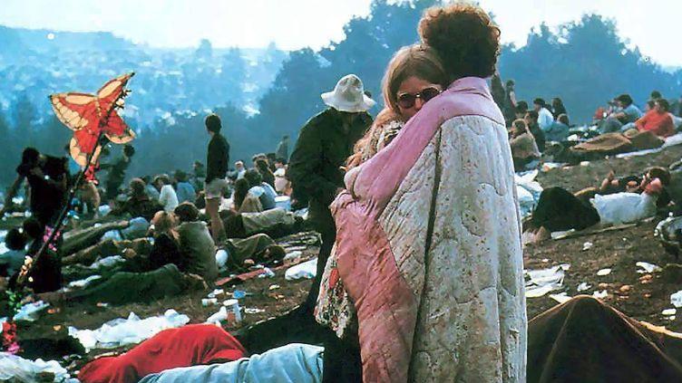 Le public du festival de Woodstock en août 1969  (SUNSHINE/MAXPPP)