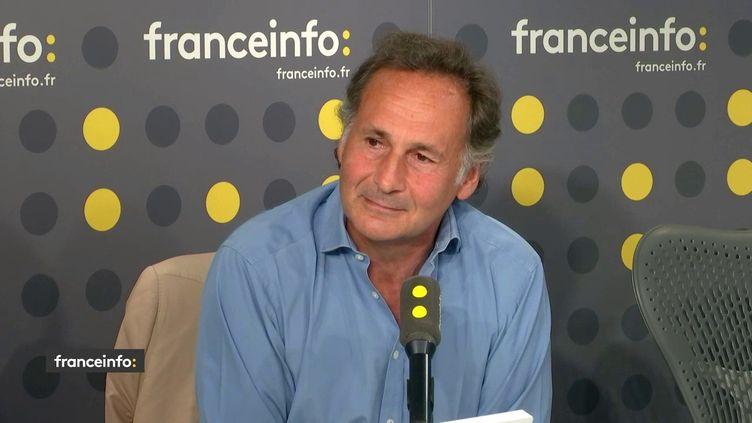 Pierre-Olivier Sur, avocat de François de Rugy, était l'invité de franceinfo mercredi 24 juillet 2019. (RADIO FRANCE / FRANCEINFO)