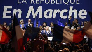 Un meeting de La République en Marche, le 23 mai 2017 à Aubervilliers (Seine-Saint-Denis). (GEOFFROY VAN DER HASSELT / AFP)