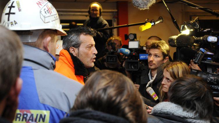 Le délégué CFDT d'ArcelorMittal-Florange, Edouard Martin, le 30 novembre 2012 à Florange (Moselle). (JEAN-CHRISTOPHE VERHAEGEN / AFP)